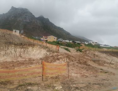 Retaining Wall construction at Imizamo Yethu township in Hout Bay