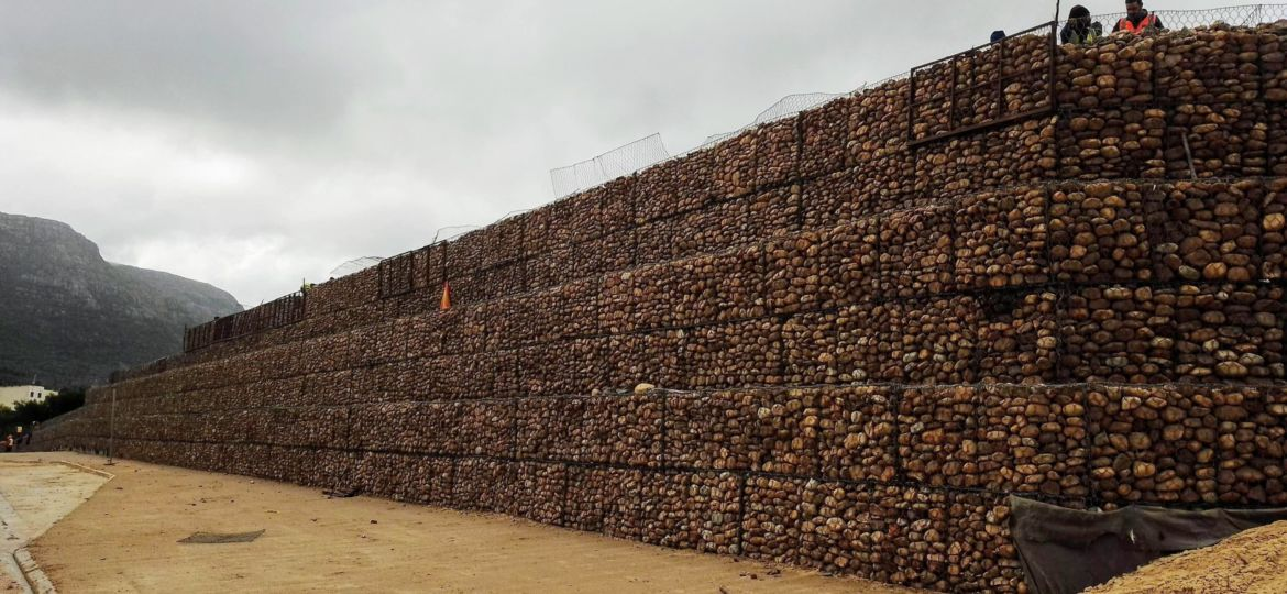 Civil Engineering, Geotechnical Engineering, Construction, Slope Stability, Gabion Retaining Wall, Hout Bay, South Africa
